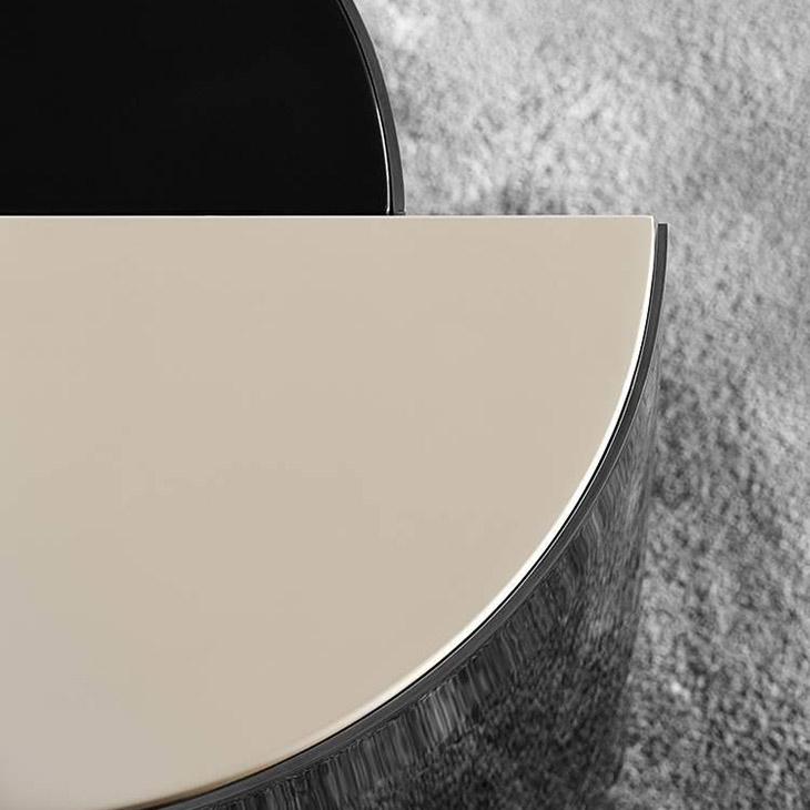 close up of a minotti shields coffee table