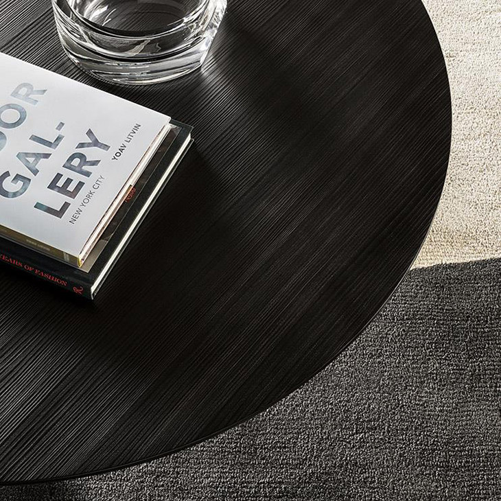 close up of a minotti song coffee table