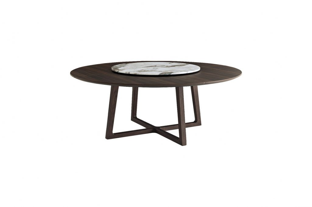 poliform concorde dining table on a white background