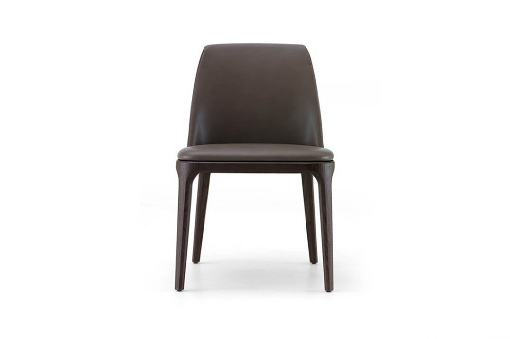 poliform grace dining chair on a white background