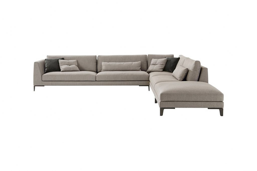 poliform bellport sectional sofa on a white background