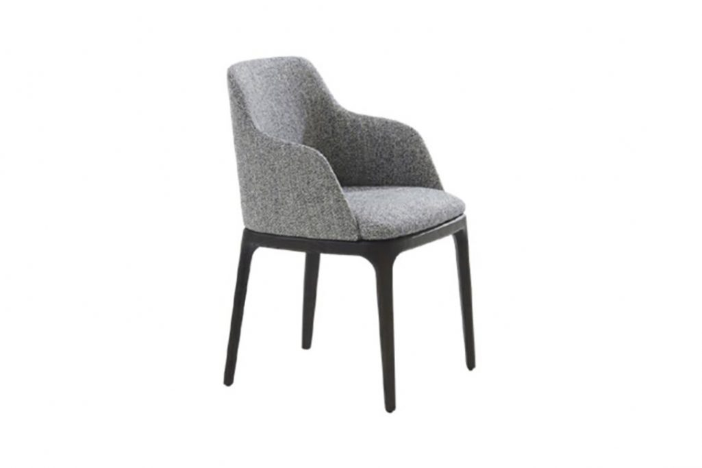 poliform grace dining arm chair on a white background