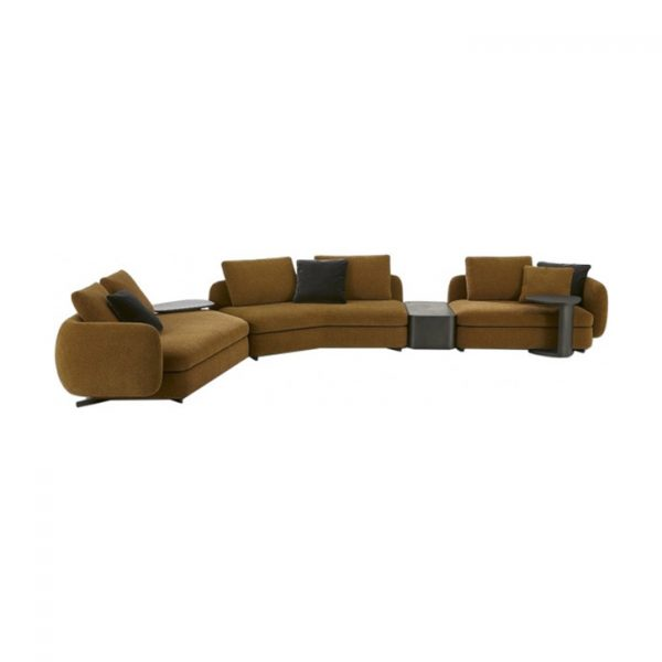 poliform saint germain sofa system on a white background