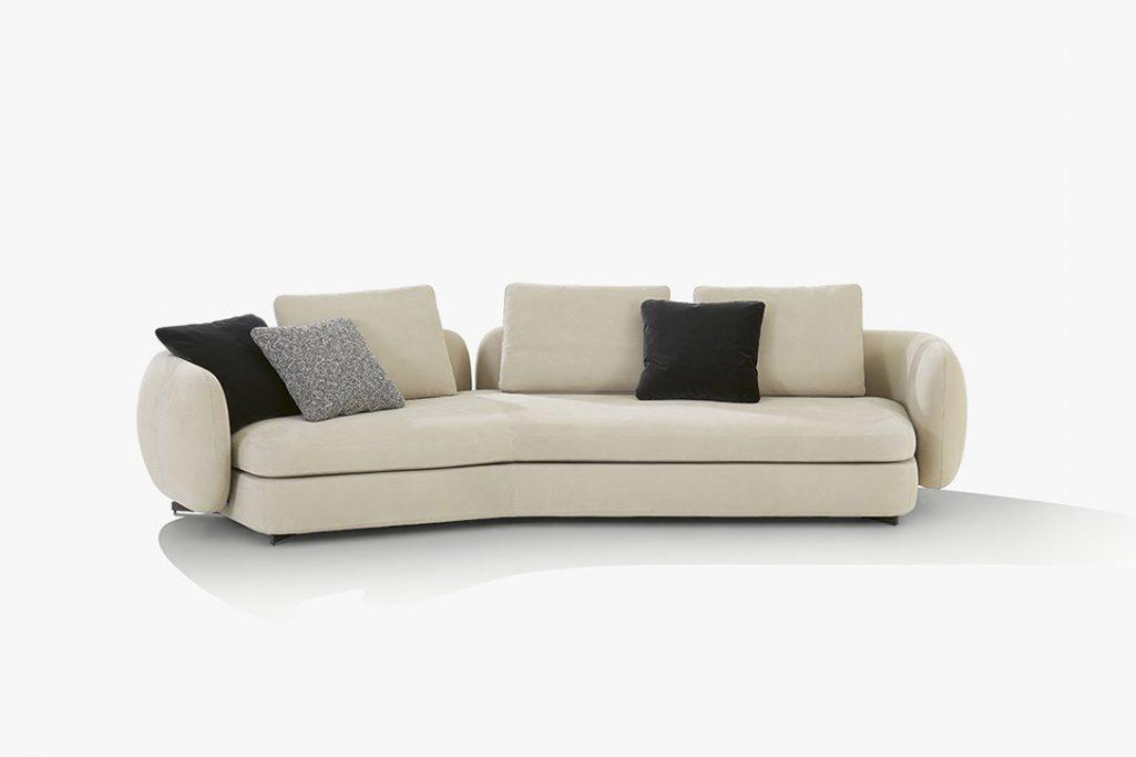 poliform saint germain sofa on a white background