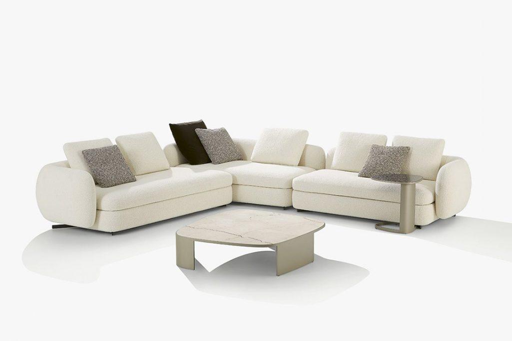 poliform saint germain sectional sofa on a white background