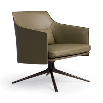 poliform stanford armchair on a white background