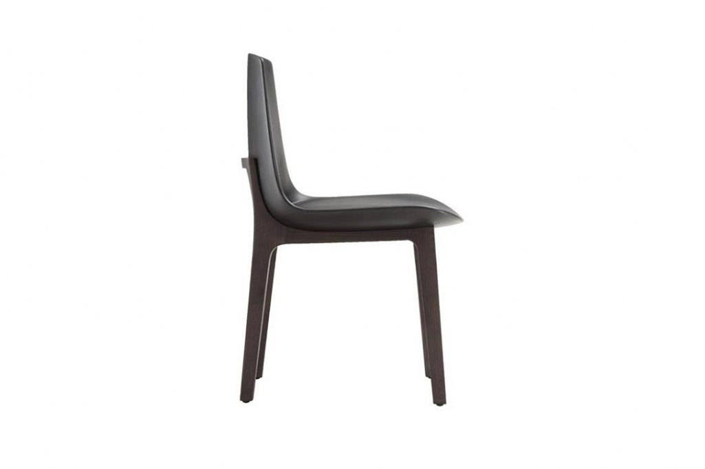 poliform ventura dining chair on a white background