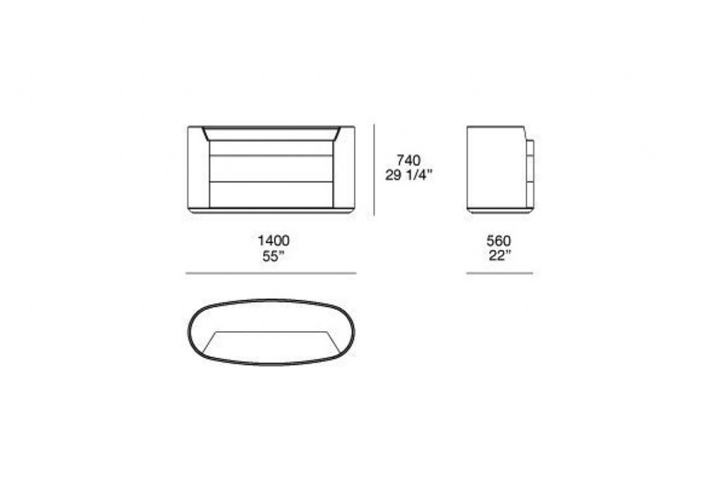 line drawing and dimensions for poliform kelly dresser