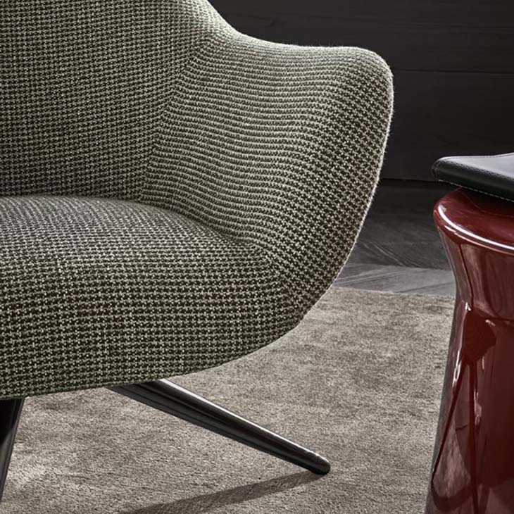detail of a poliform mad armchair
