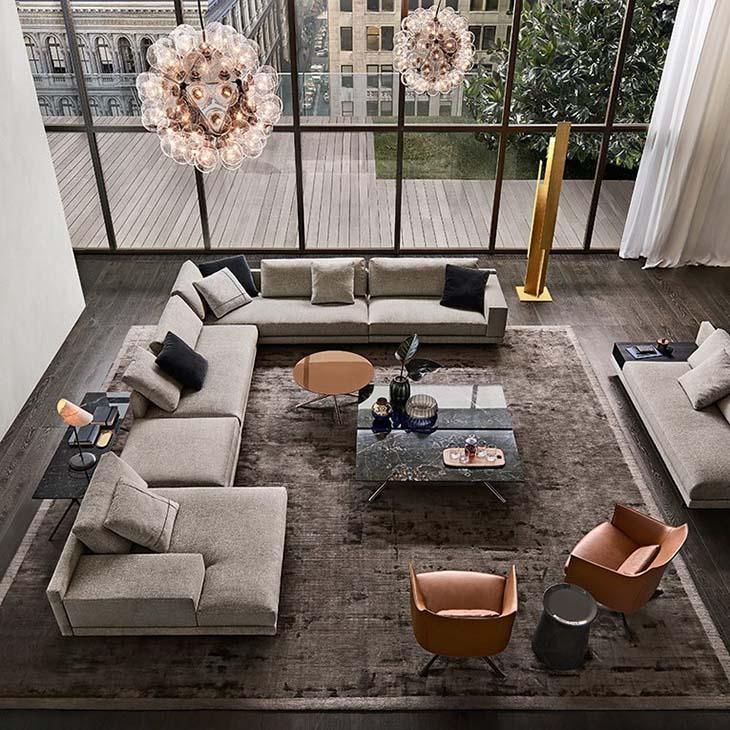 poliform mondrian sofas in situ