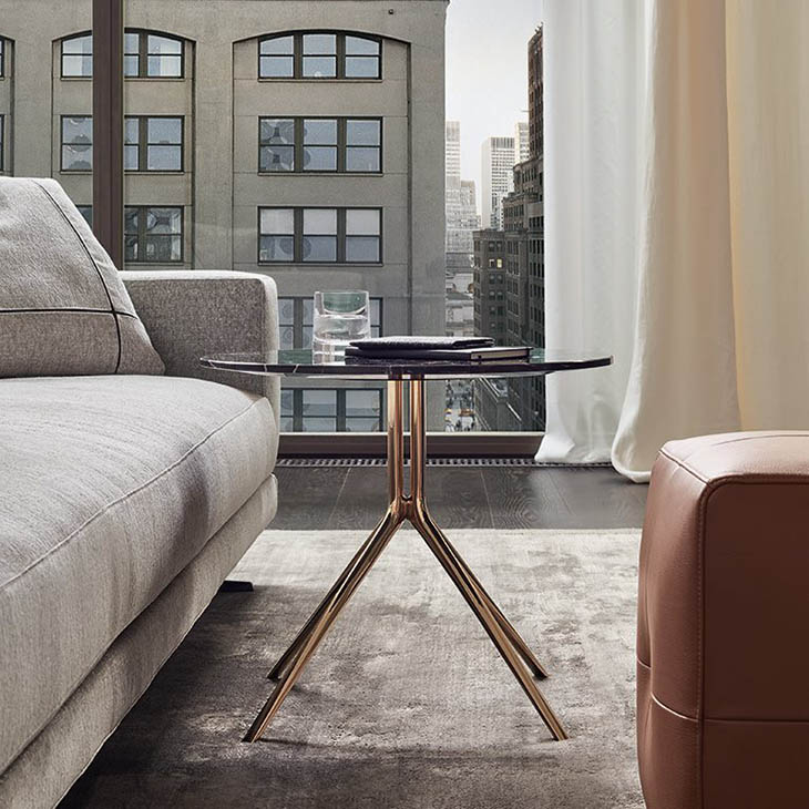 poliform mondrian side table in situ