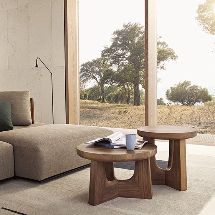 two poliform nara side tables in situ