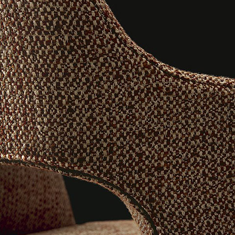 detail of upholstery on a poliform sophie lite dining chair