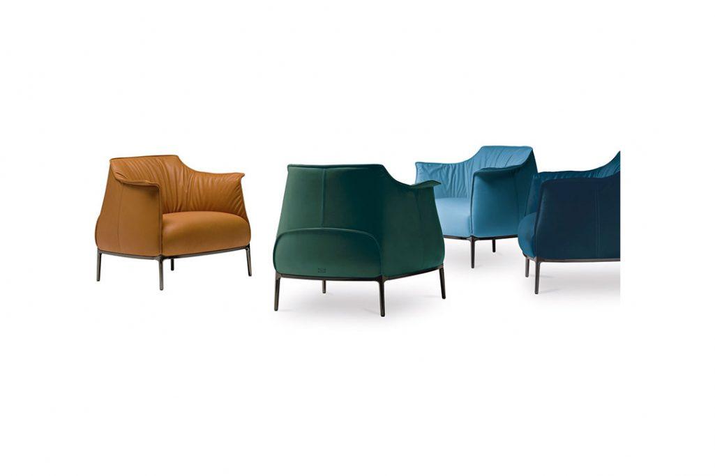 four leather poltrona frau archibald gran comfort armchairs