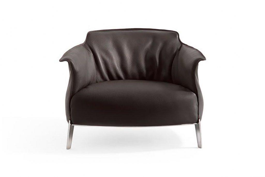 poltrona frau archibald gran comfort armchair in leather