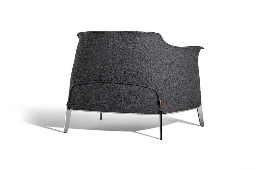 back of a poltrona frau archibald gran comfort armchair