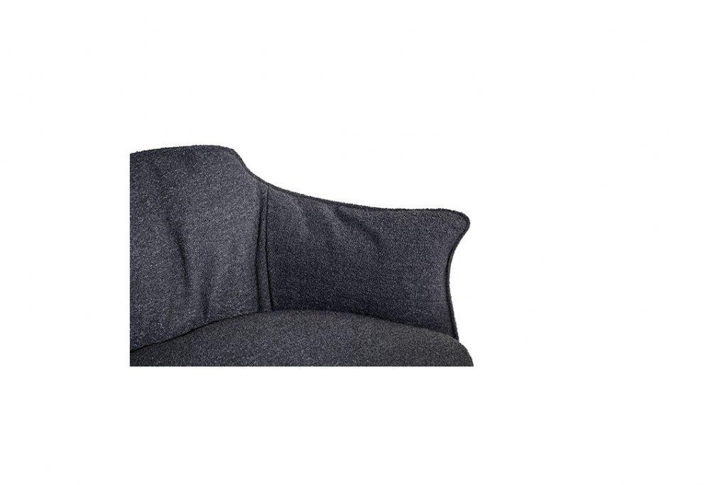 poltrona frau archibald gran comfort armchair arm detail