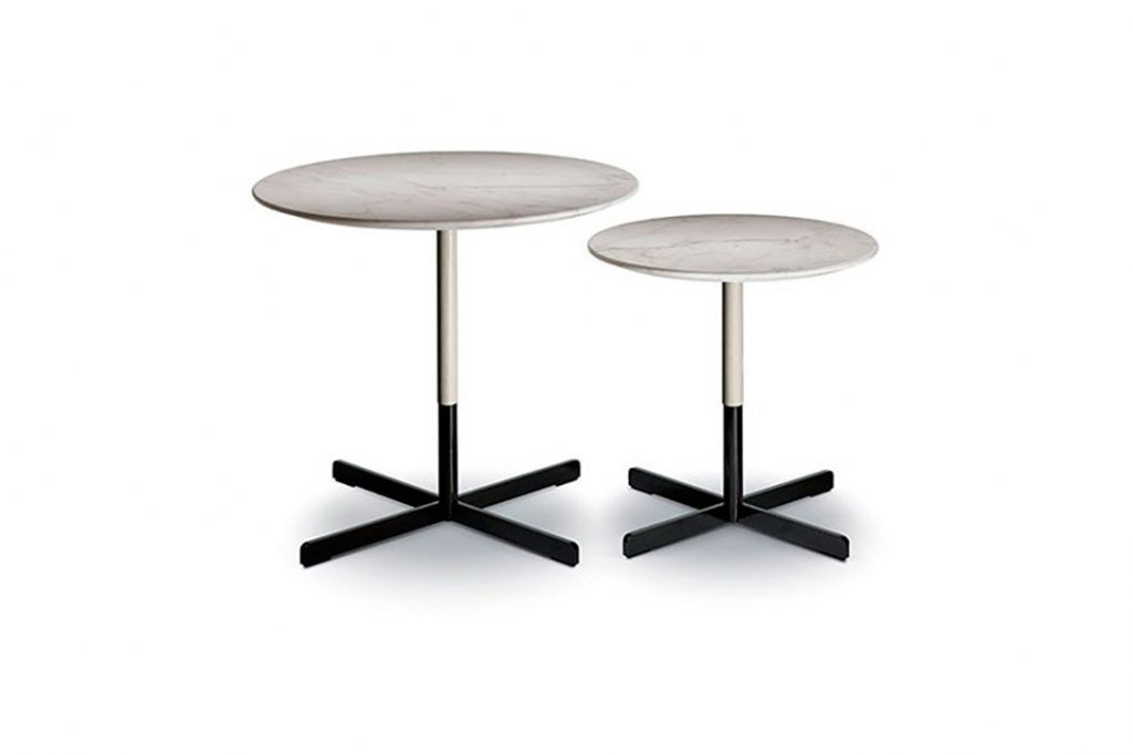 poltrona frau bob side tables on a white background