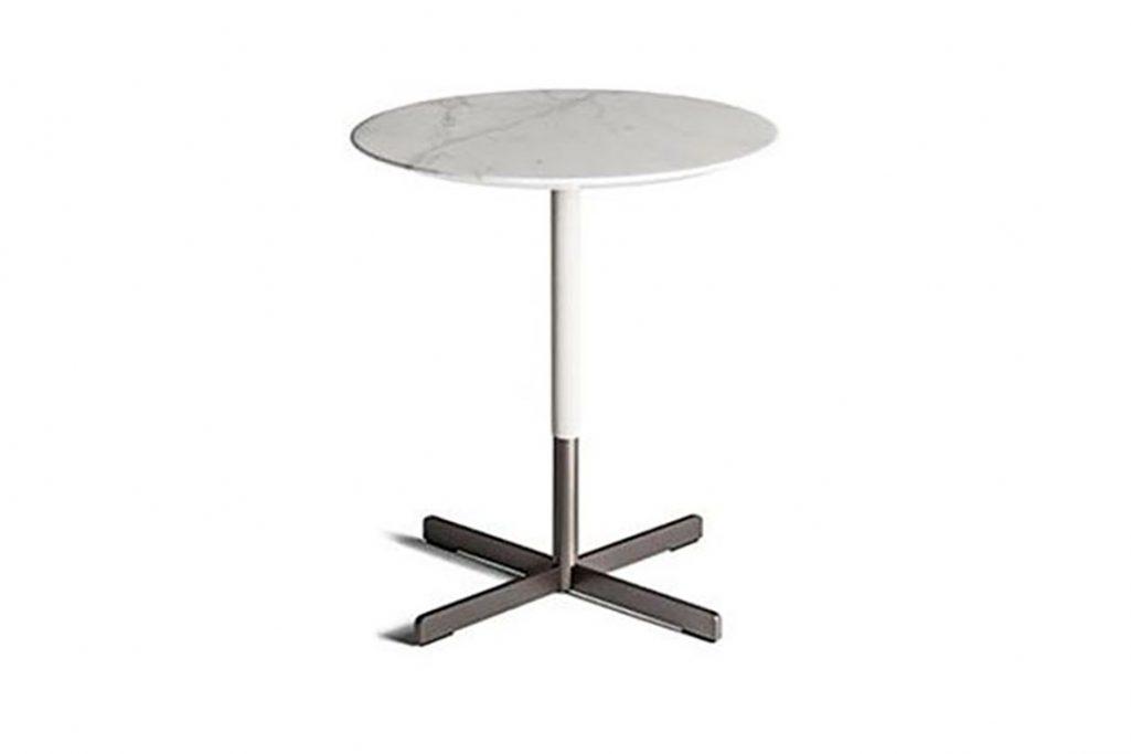 poltrona frau bob side table on a white background