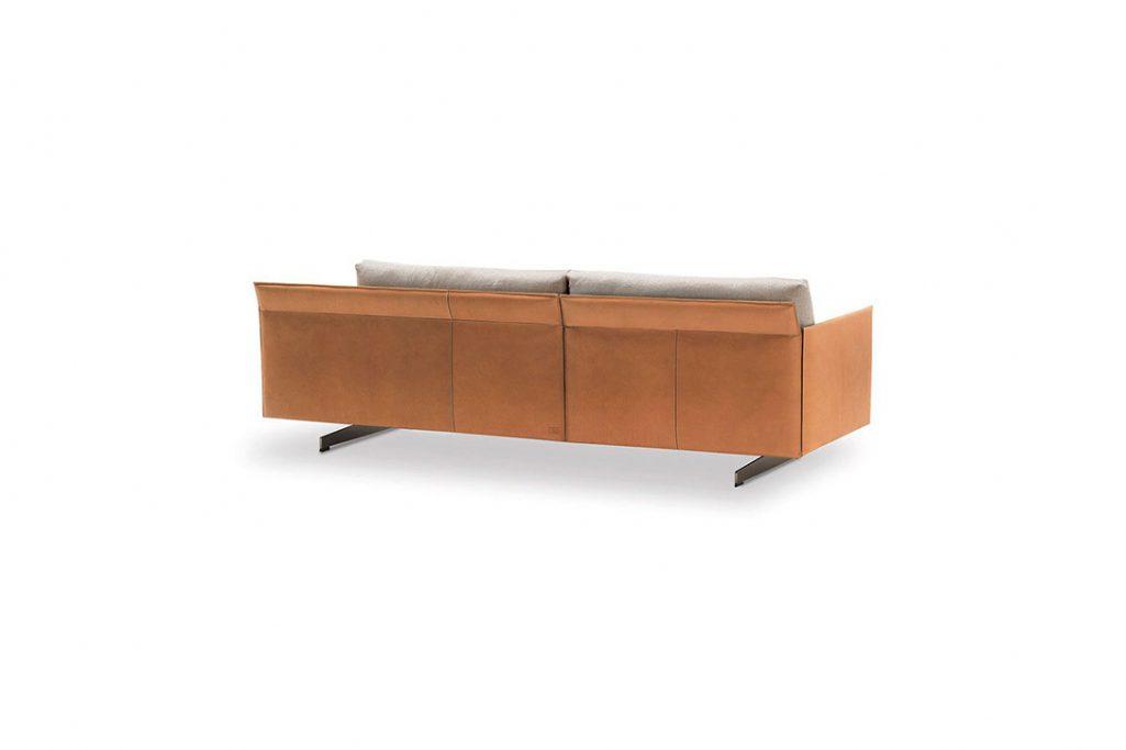 back side of a poltrona frau grantorino sofa