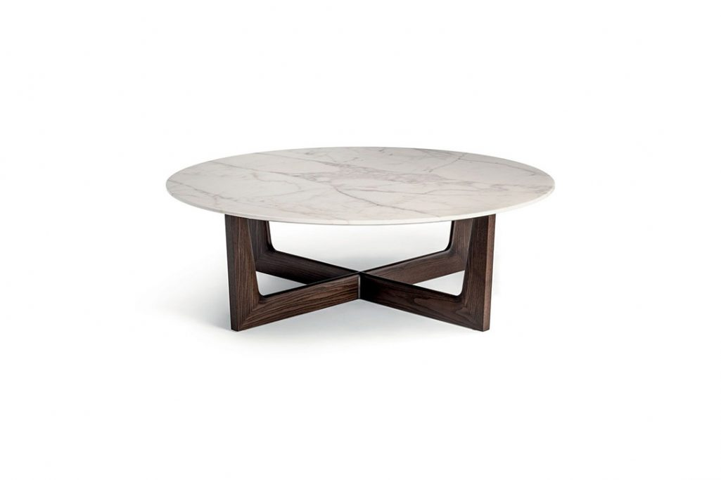 poltrona frau ilary coffee table on a white background