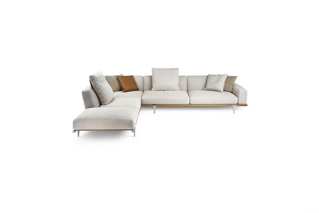 poltrona frau let it be chaise left sectional sofa