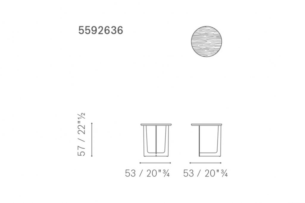 line drawing and dimensions for poltrona frau ilary side table