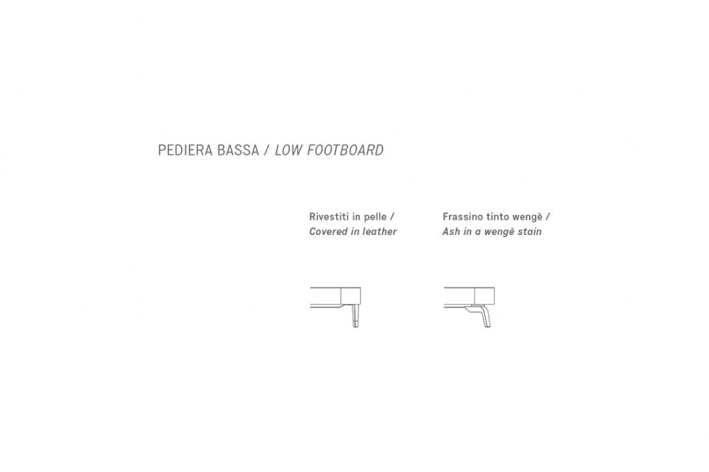 line drawing and dimensions for poltrona frau suzie wong bed low footboard feet