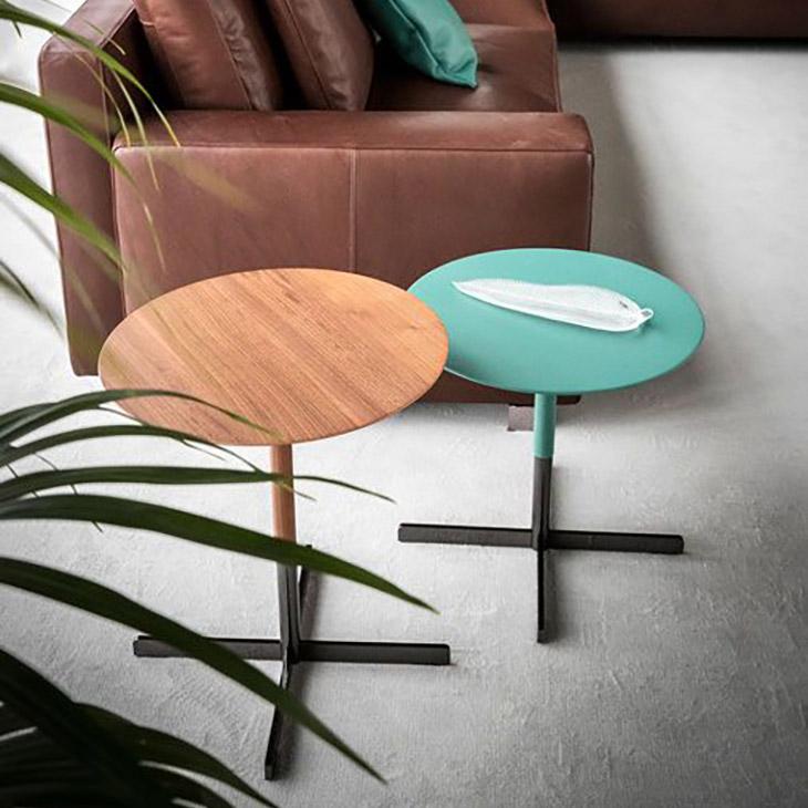 twp poltrona frau bob side tables in situ