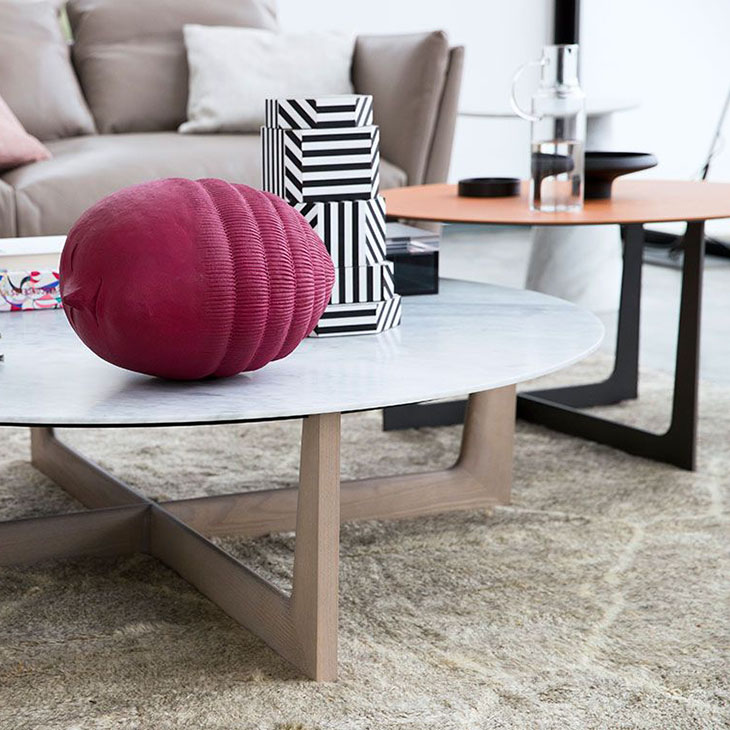 poltrona frau ilary coffee tables in situ