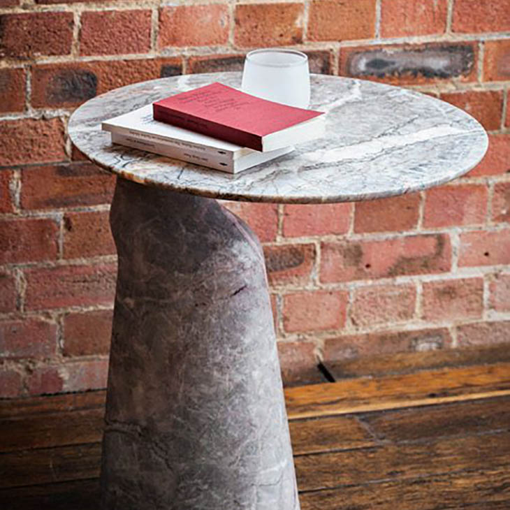 poltrona frau ilary monolithic side table in situ