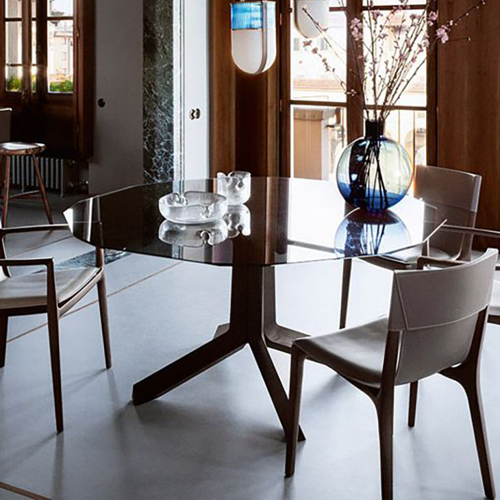 poltrona frau othello dining table in situ