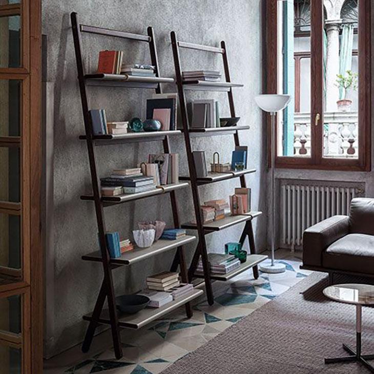 poltrona frau ren bookcase high in situ