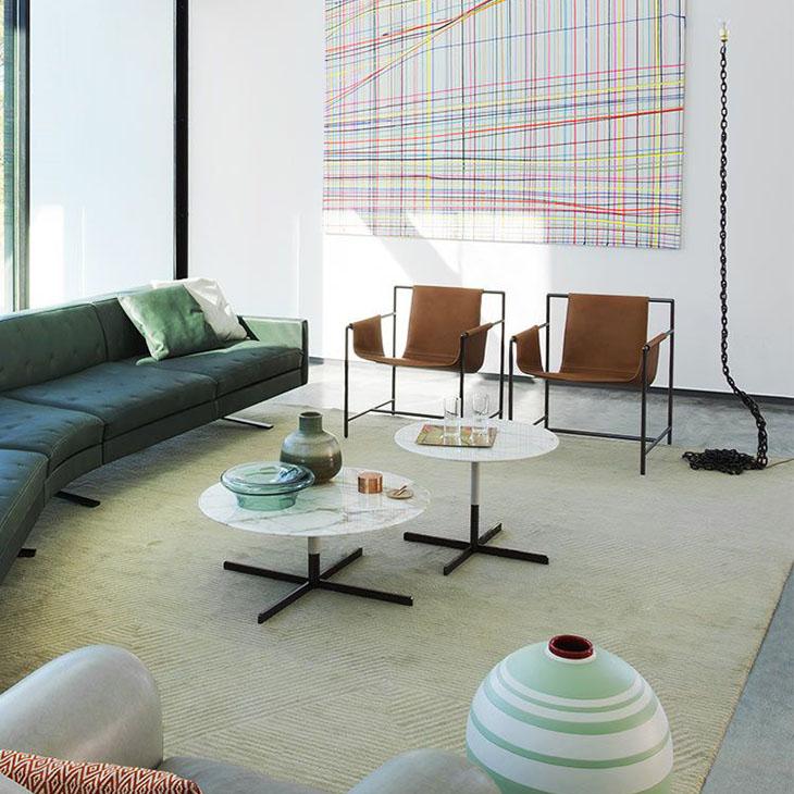 poltrona frau ming's heart armchairs in situ