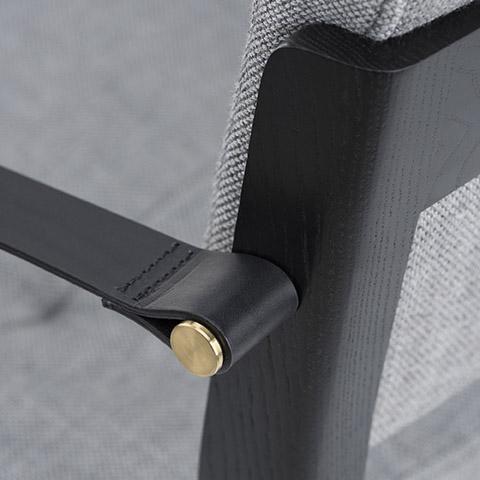 de la espada capo dining arm chair detail