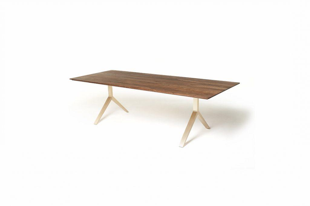 de la espada overton dining table brushed brass legs