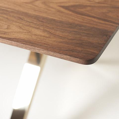 de la espada overton dining table polished brass legs