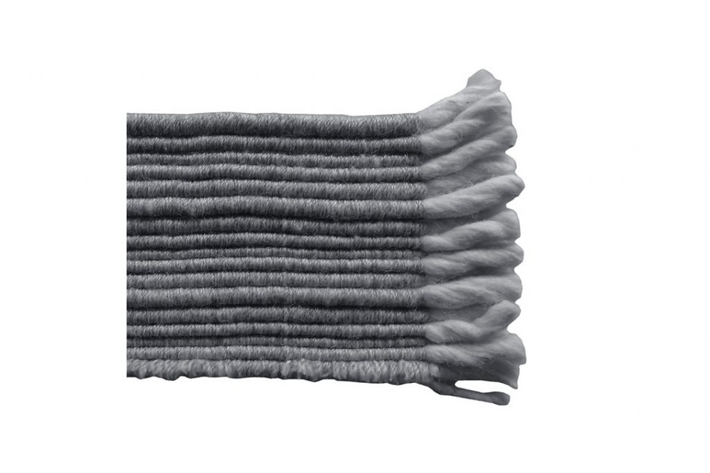 b&b italia timo rug dark grey swatch