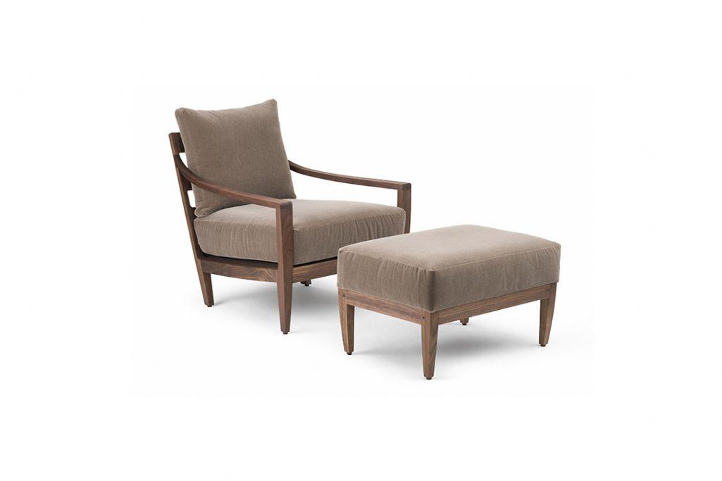 de la espada low lounge armchair and ottoman