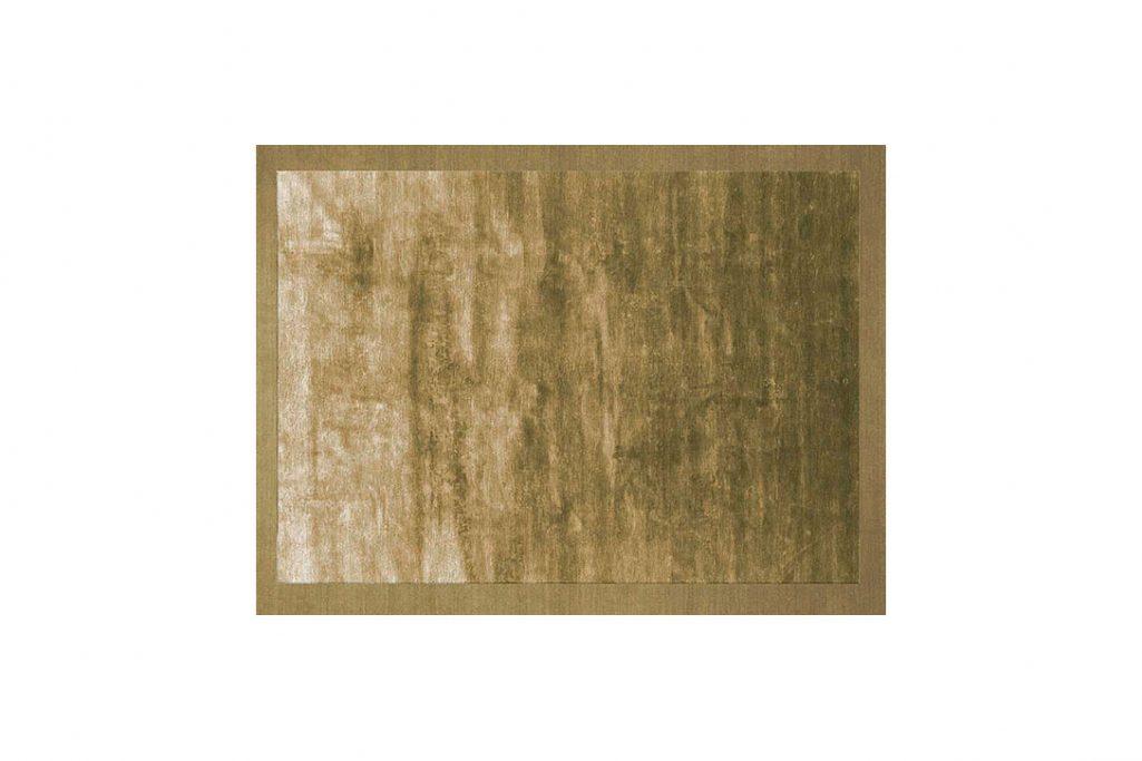 poliform frame rug gold